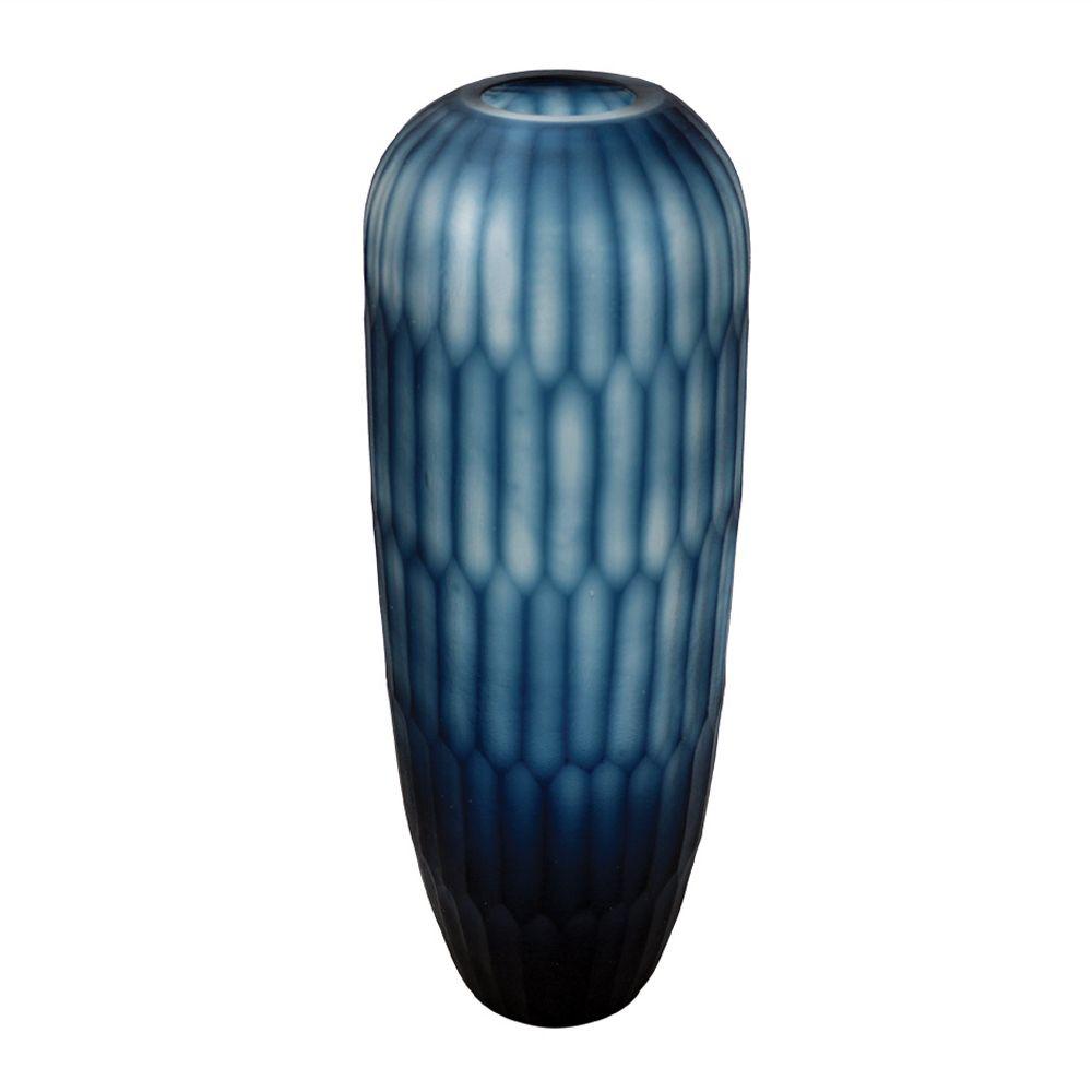 Vaso Alto Vidro Azul (A)