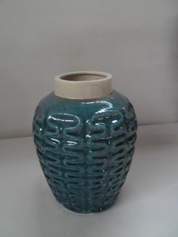 Vaso Cerâmica Azul Turquesa UE0067 (A)