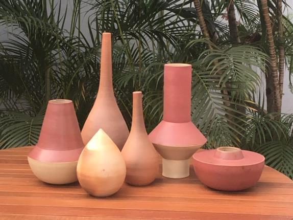 Vaso Cerâmica Natural P - Zizi Carderari (A)