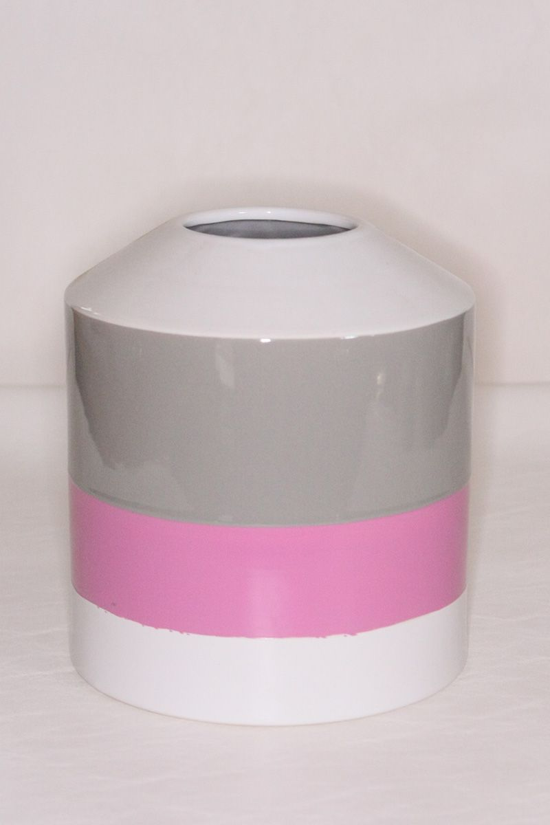 Vaso Cerâmica Pencil Pink