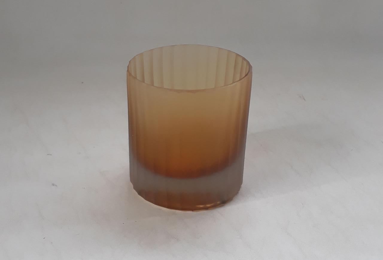 Vaso Cilindro Canelado Âmbar (A)
