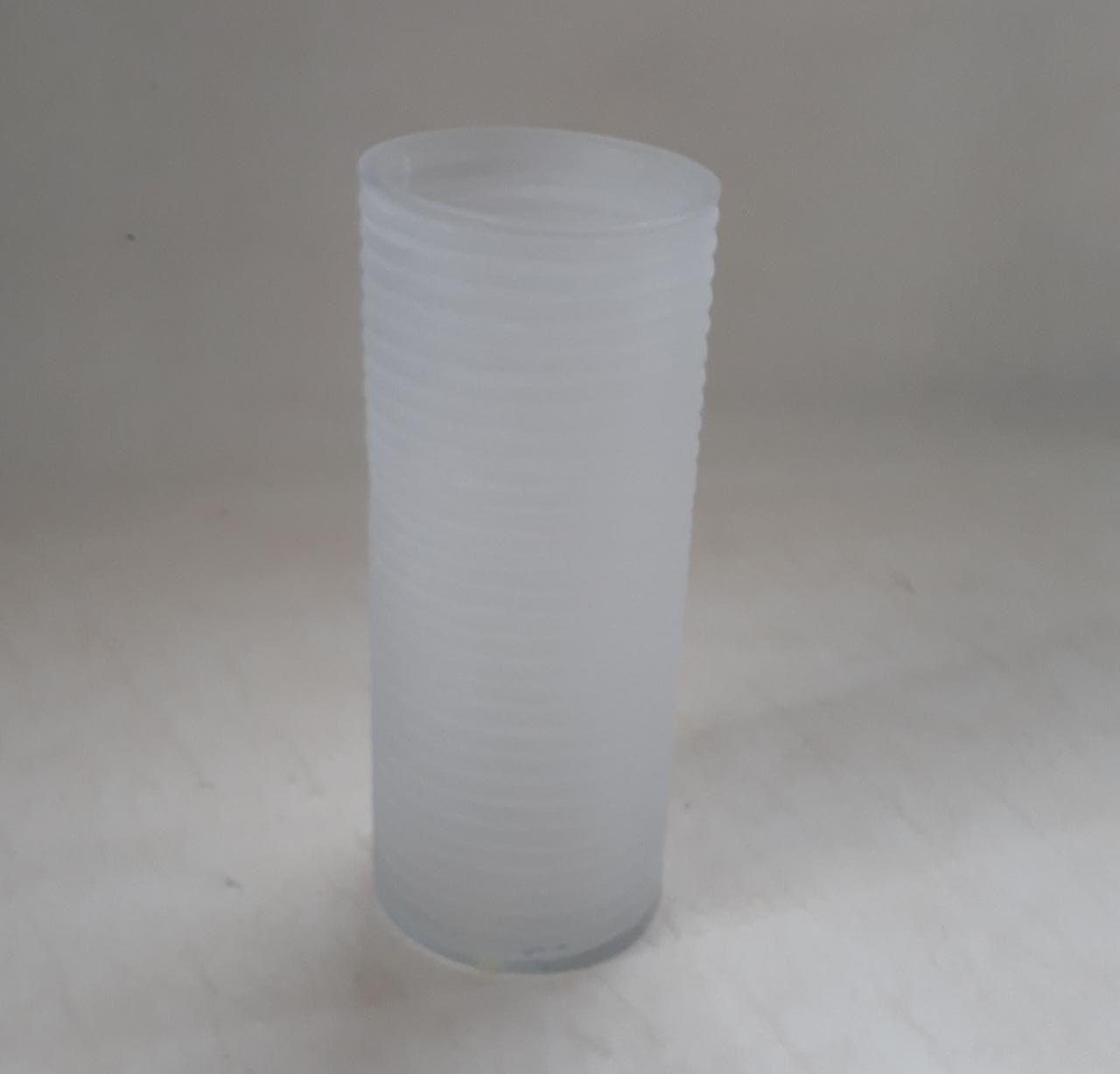 Vaso Cilindro Friso Branco Fosco