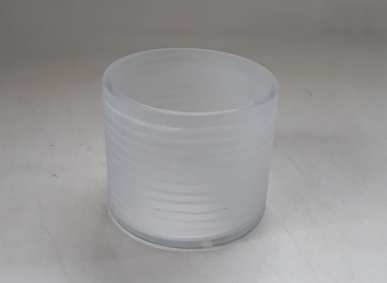 Vaso Cilindro Friso Branco Fosco (A)