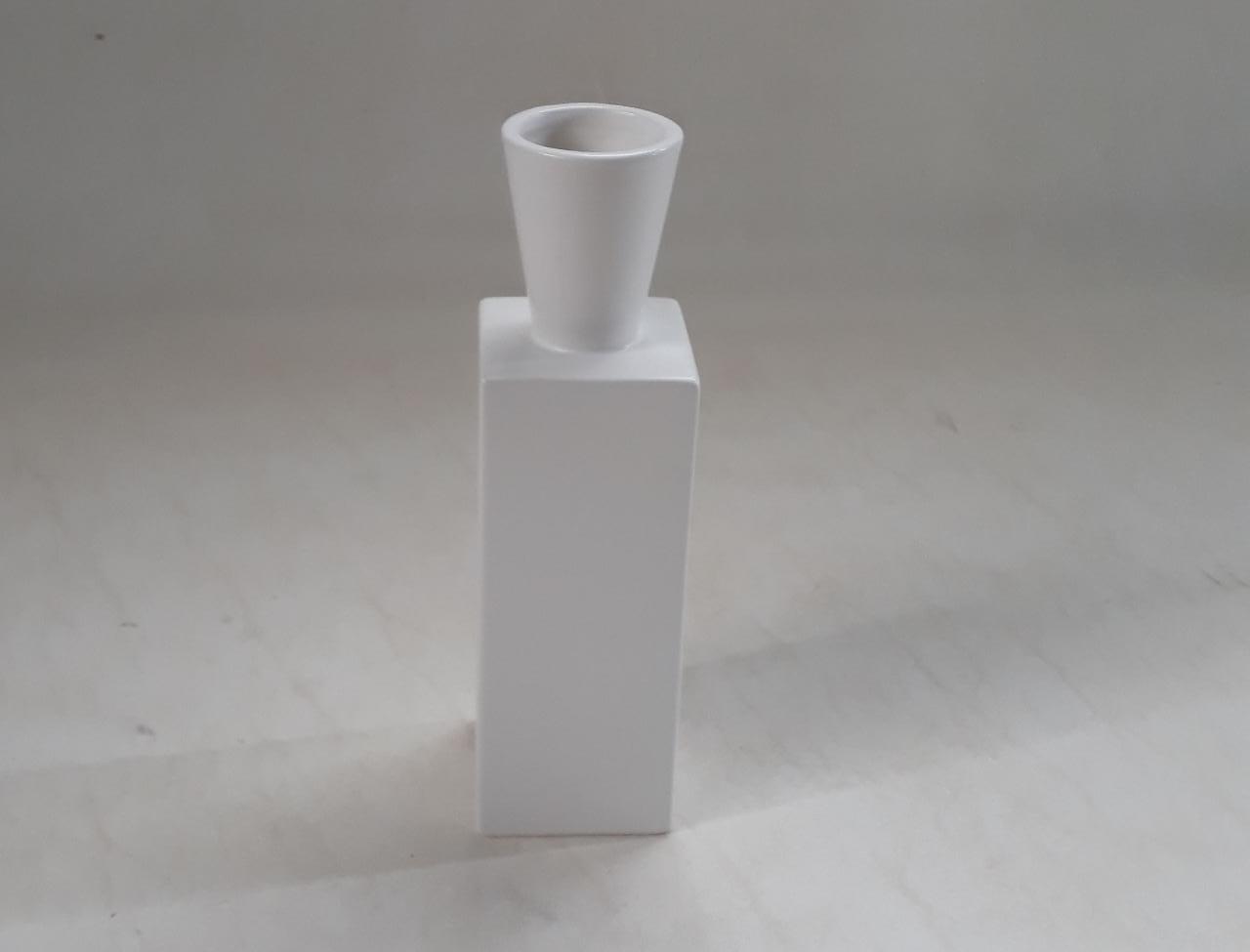 Vaso Decorativo Cerâmica Branco