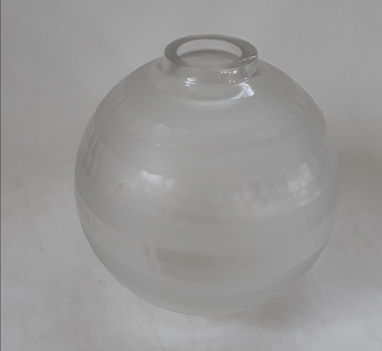 Vaso em Cristal Ball Incolor