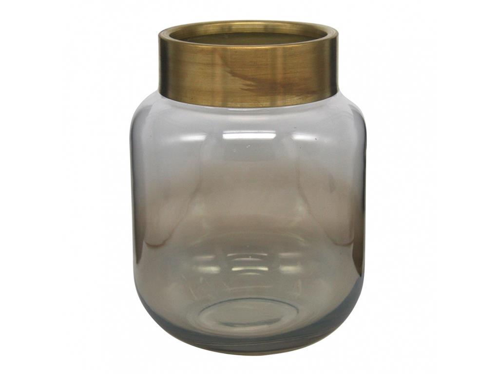 Vaso em Vidro Borda Dourada (X)