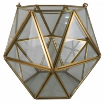 Vaso em Vidro P Incolor e Metal (X)