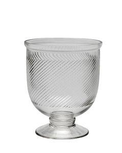 Vaso Espiral Vidro com Pé