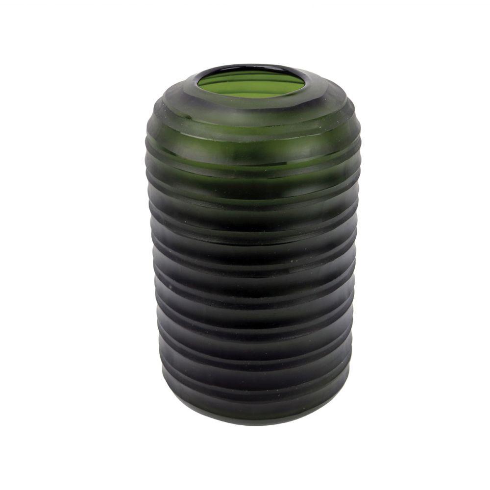Vaso Médio Vidro Verde (A)