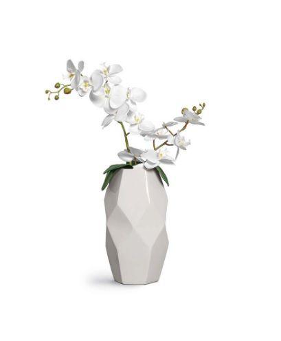 Vaso Pedra 2 Branco Fosco