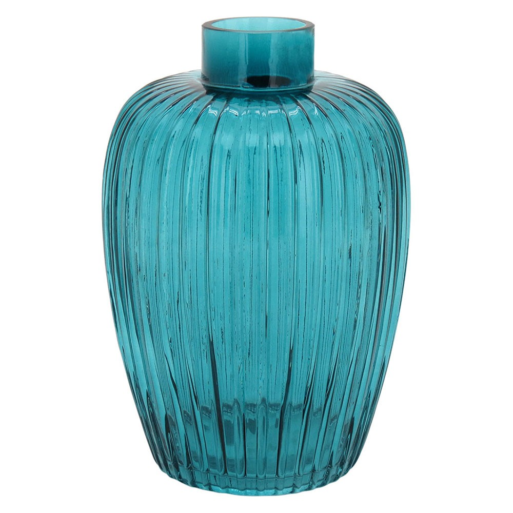 Vaso Royalty Alto em Vidro Azul (I)