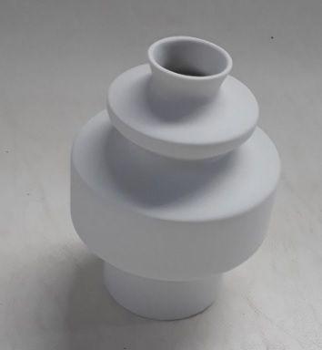 Vaso Totêmico P Branco Fosco