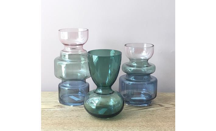 Vaso Vidro Azul Degradê (A)
