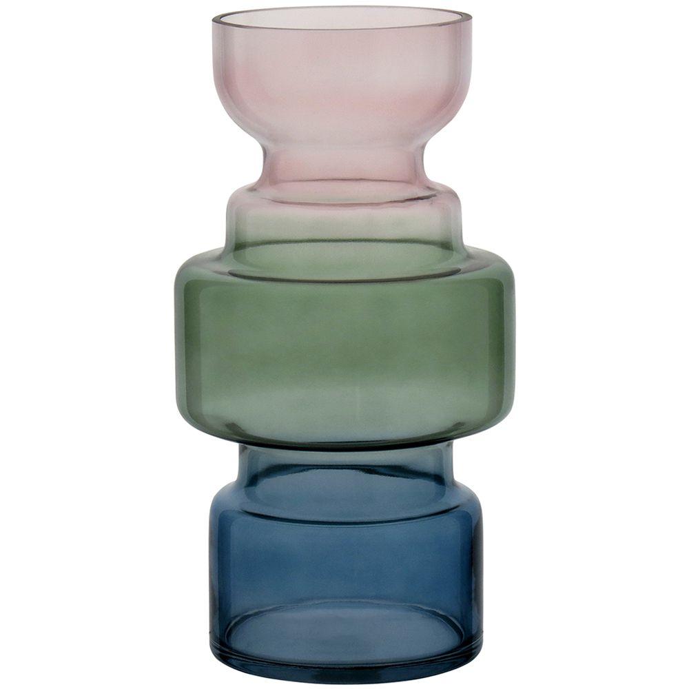 Vaso Vidro G Azul Degradê (A)