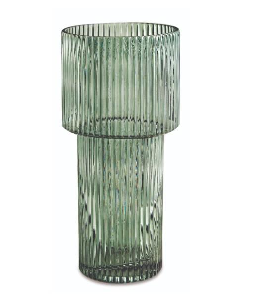 Vaso Vidro Verde M (X)
