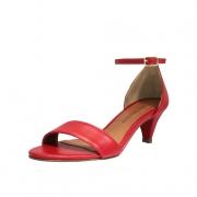 Sandália Salto Baixo Fino Luiza Sobreira Vermelha Mod. 2085