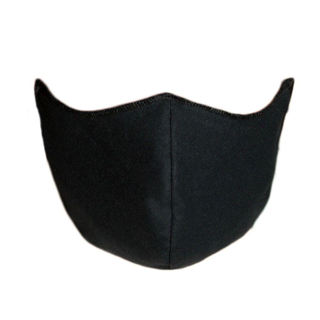 Máscara em Tecido Duplo Preto, Reutilizável e Lavável 100 Unidades