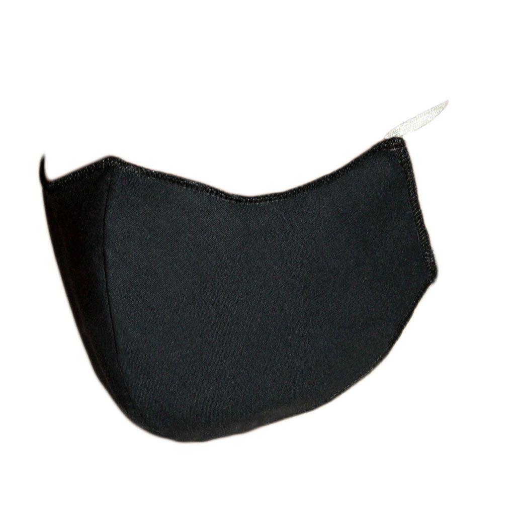 Máscara em Tecido Duplo Preto, Reutilizável e Lavável 50 Unidades