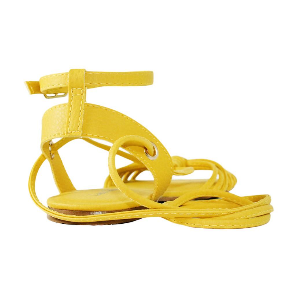 Rasteira Troca Tira Luiza Sobreira Couro Amarelo Mod. 2042-2