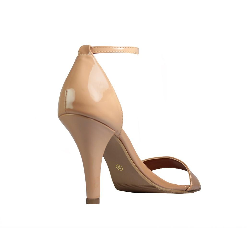 Sandália Salto Alto Fino Luiza Sobreira Verniz Nude Mod. 2171