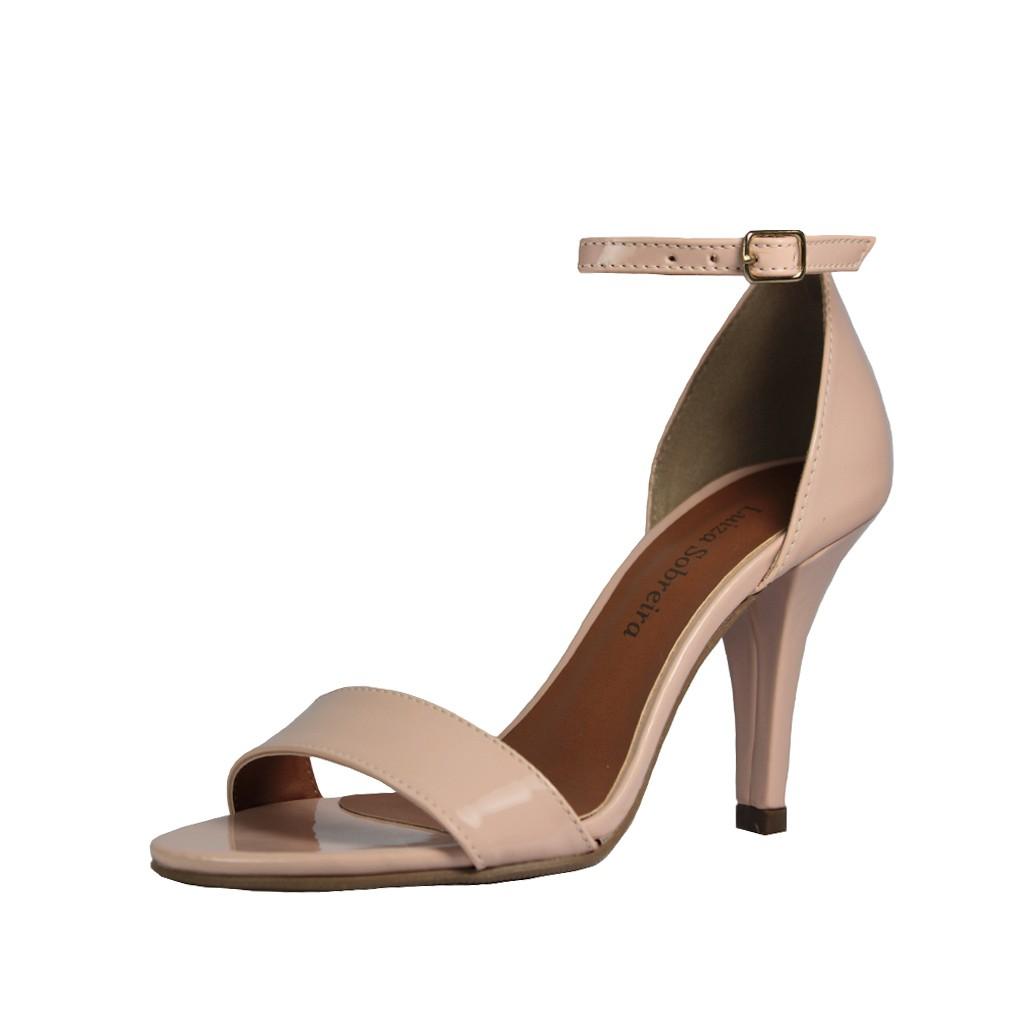 Sandália Salto Alto Fino Luiza Sobreira Verniz Nude Mod. 2213