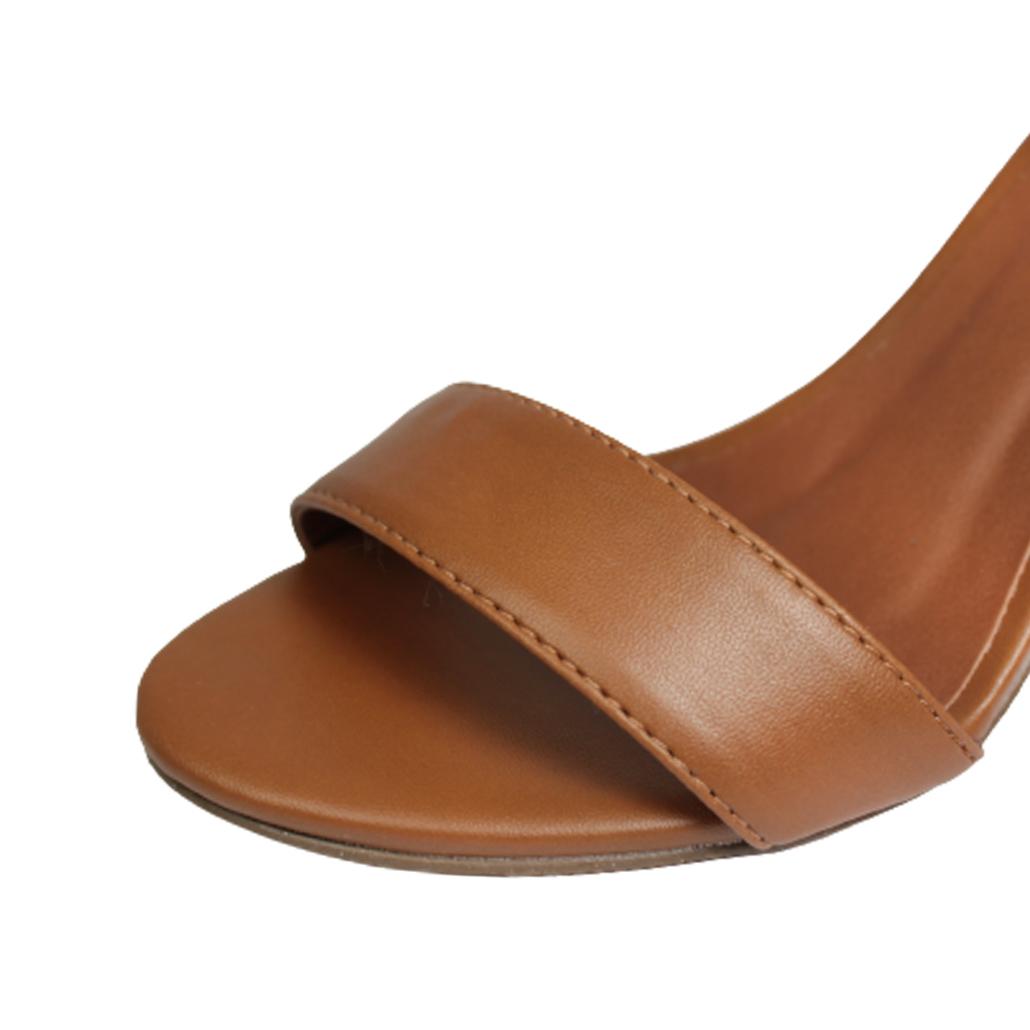 Sandália Salto Alto Grosso Luiza Sobreira Caramelo Mod. 2064