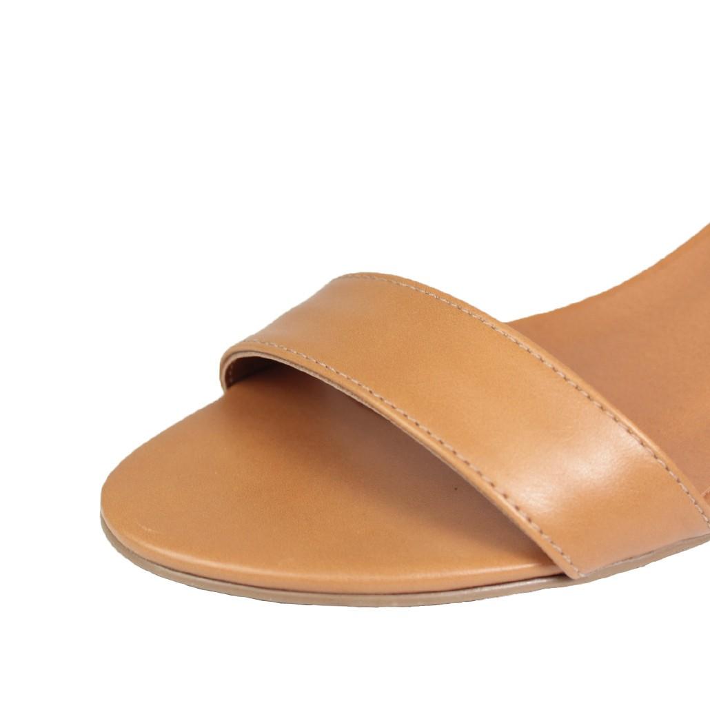 Sandália Salto Baixo Fino Luiza Sobreira Caramelo Mod. 3002