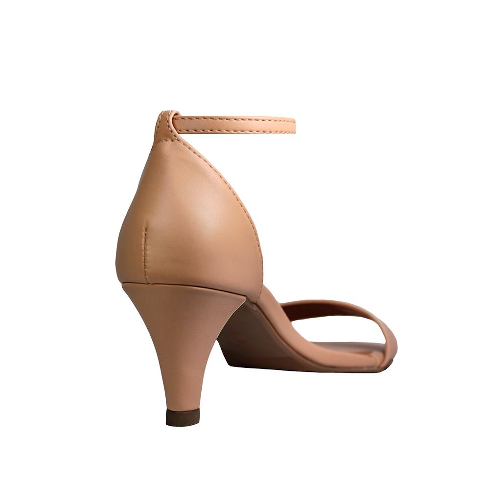 Sandália Salto Baixo Fino Luiza Sobreira Nude Mod. 2081