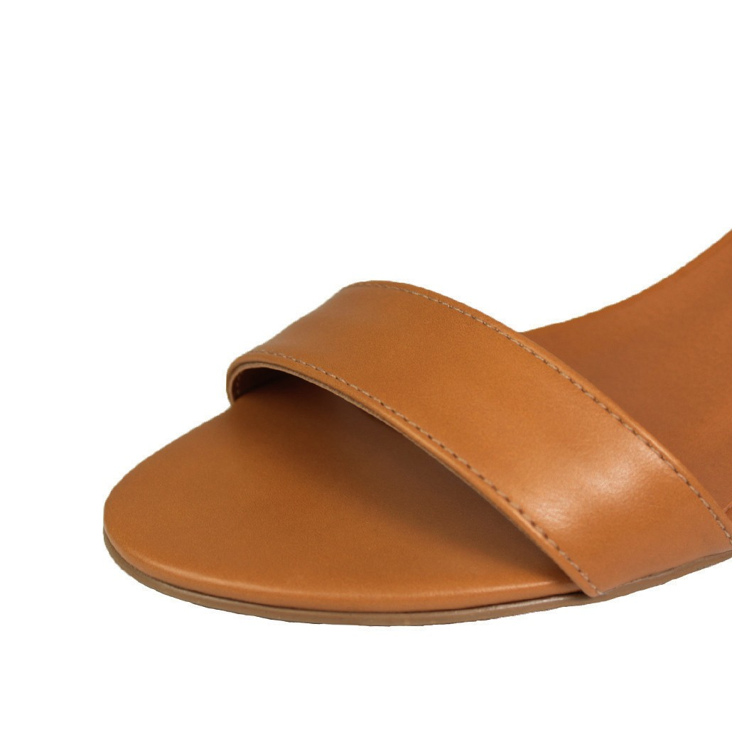 Sandália Salto Baixo Grosso Luiza Sobreira Caramelo Mod. 2202