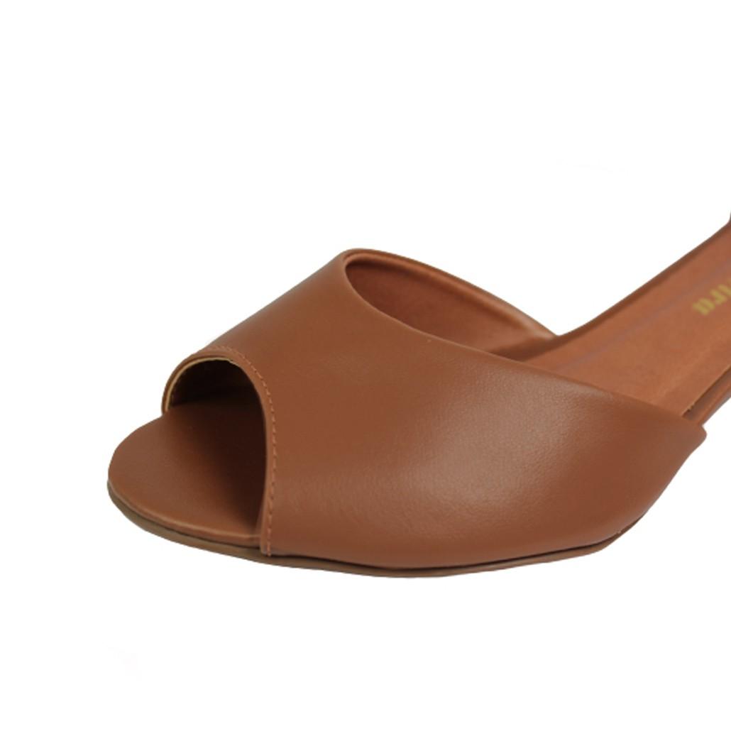 Sandália Salto Baixo Grosso Luiza Sobreira Caramelo Mod. 40111