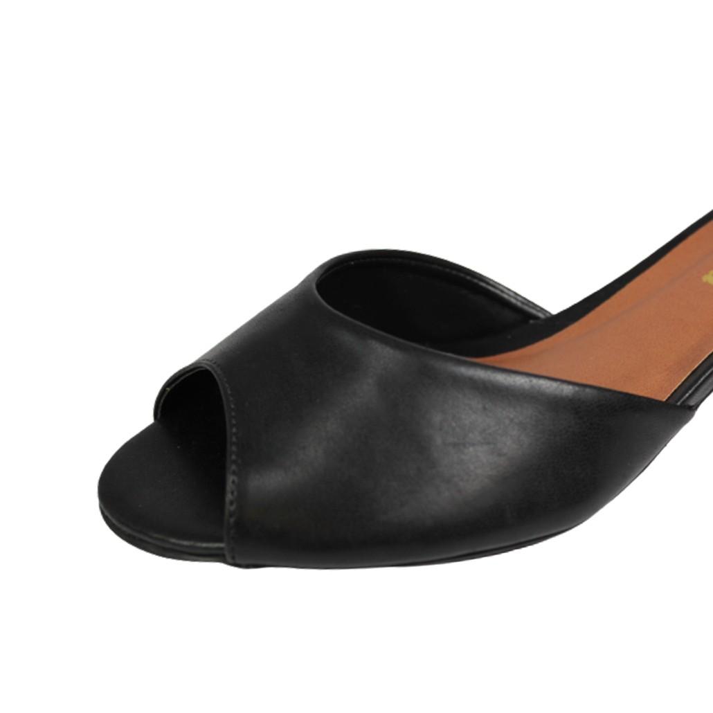 Sandália Salto Baixo Grosso Luiza Sobreira Preta Mod. 4014