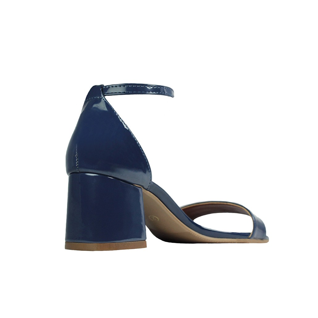 Sandália Salto Baixo Grosso Luiza Sobreira Verniz Azul Marinho Mod. 2015