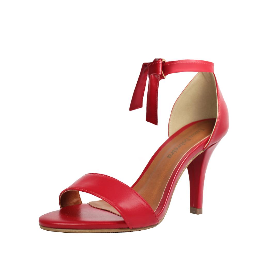 Sandália Troca Tira Salto Alto Fino Luiza Sobreira Vermelha Mod. 2069-2
