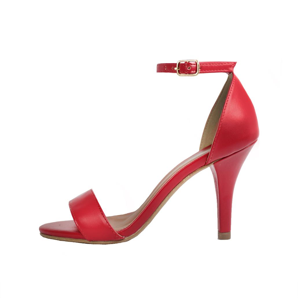 Sandália Troca Tira Salto Alto Fino Luiza Sobreira Couro Vermelho Mod. 2069-2