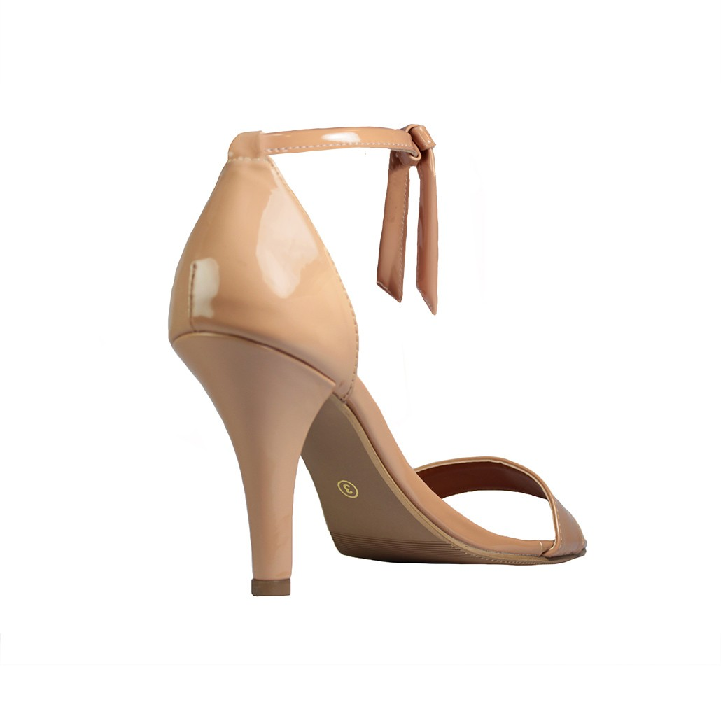 Sandália Troca Tira Salto Alto Salto Fino Luiza Sobreira Verniz Nude Mod. 2171-2