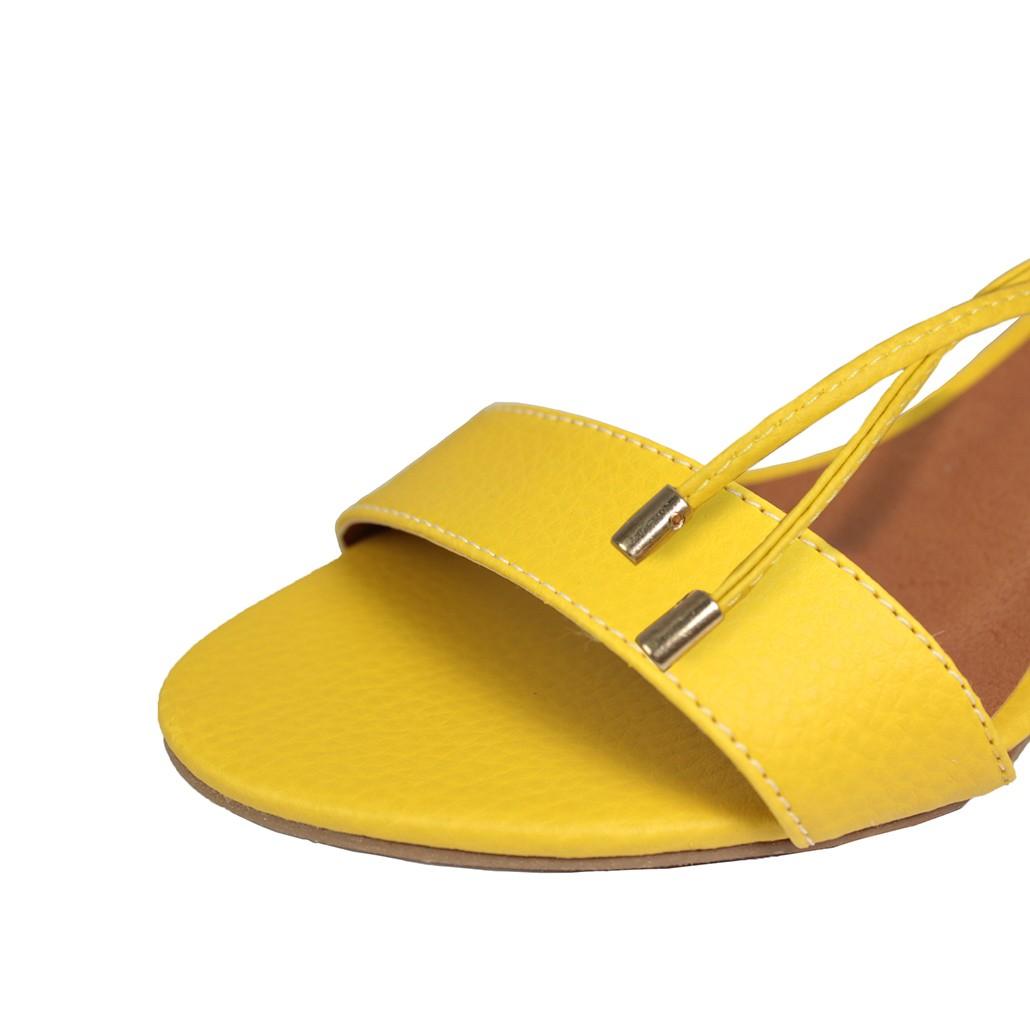 Sandália Troca Tira Salto Baixo Fino Luiza Sobreira Amarela Mod. 2021-2