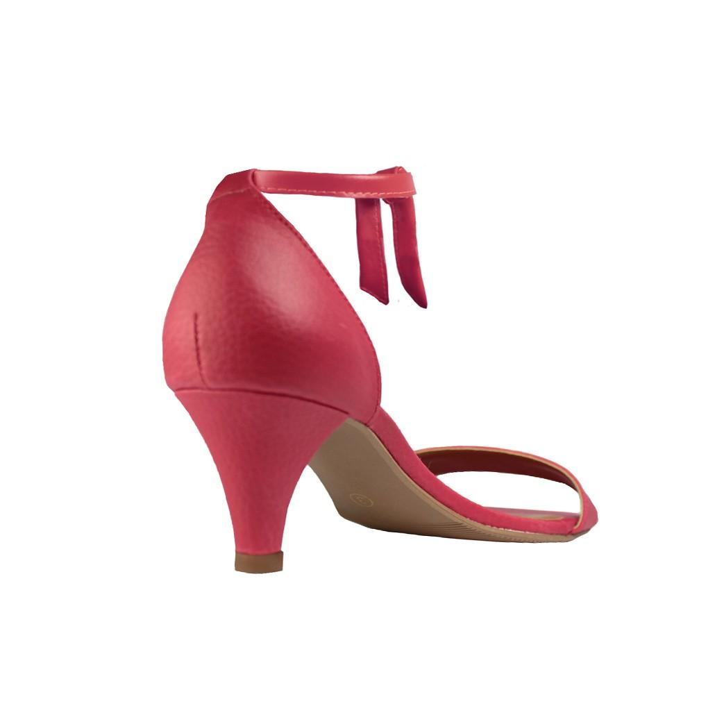 Sandália Troca Tira Salto Baixo Fino Luiza Sobreira Vermelha Mod. 2016-2