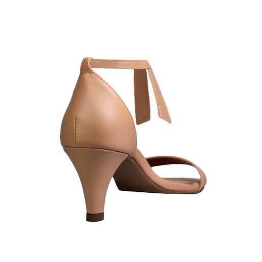 Sandália Troca Tira Salto Baixo Fino Luiza Sobreira Nude Mod. 2081-2