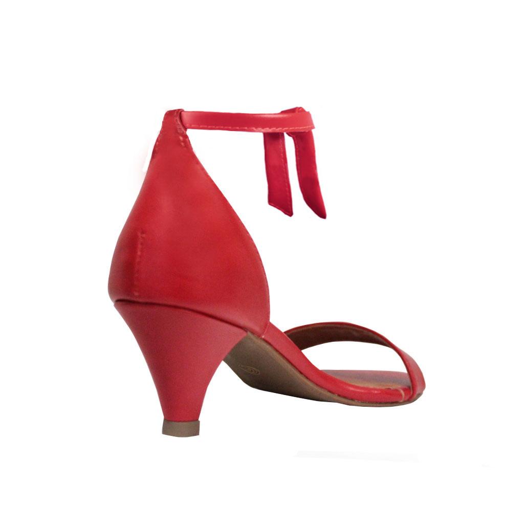 Sandália Troca Tira Salto Baixo Fino Luiza Sobreira Vermelha Mod. 2085-2