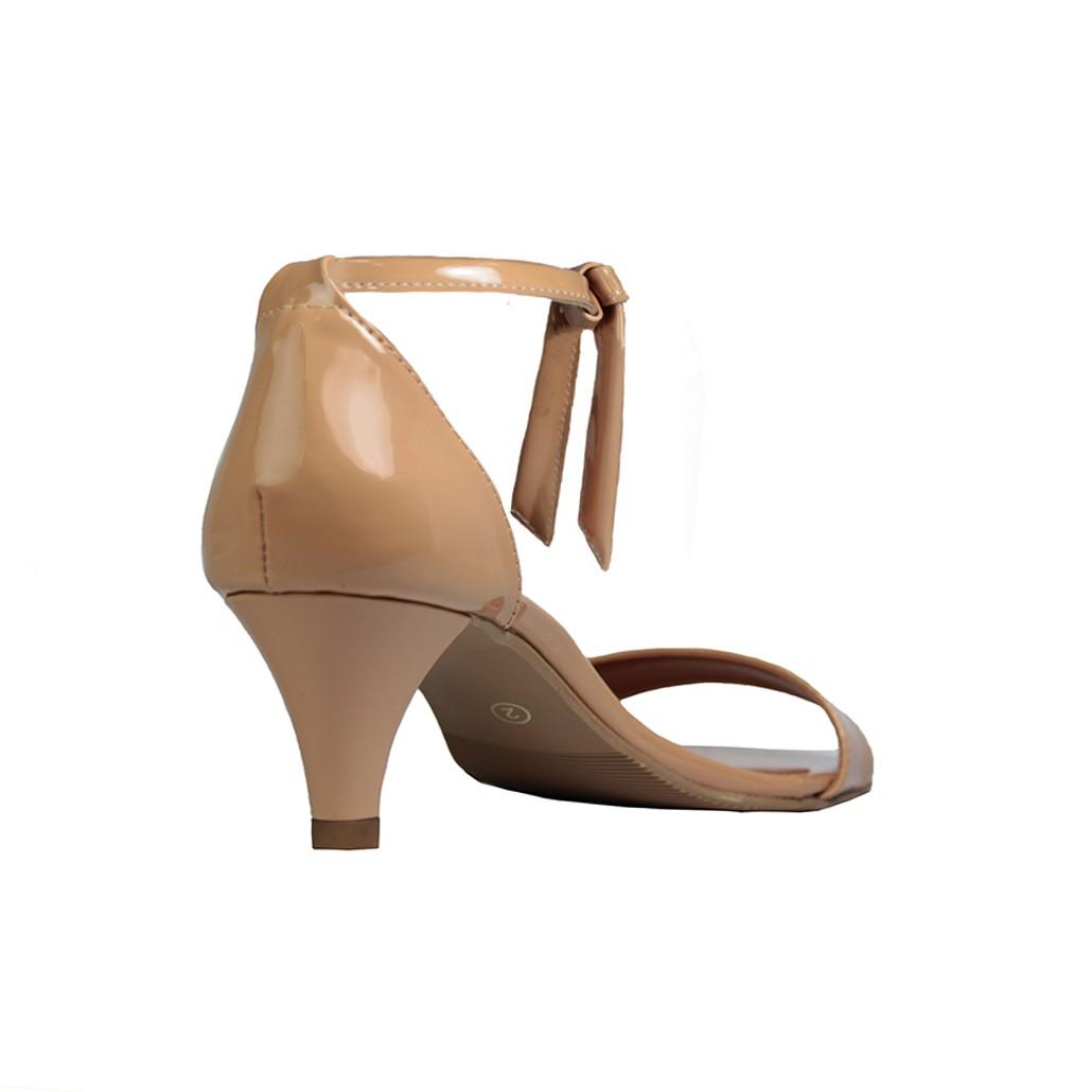 Sandália Troca Tira Salto Baixo Fino Luiza Sobreira Verniz Nude Mod. 4068-2