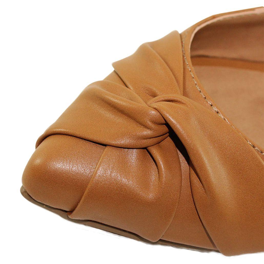 Sapatilha Chanel Bico Fino Luiza Sobreira Caramelo Mod. 1071