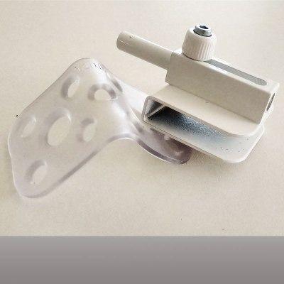 Trinco de pressão para porta de vidro branco