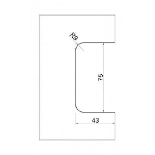 Fechadura Para Porta De Vidro De Abrir Pivotante 1520 cromada