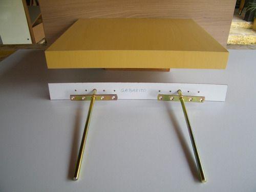 Suporte Invisível De Embutir Para Prateleira 20cm  - 4un