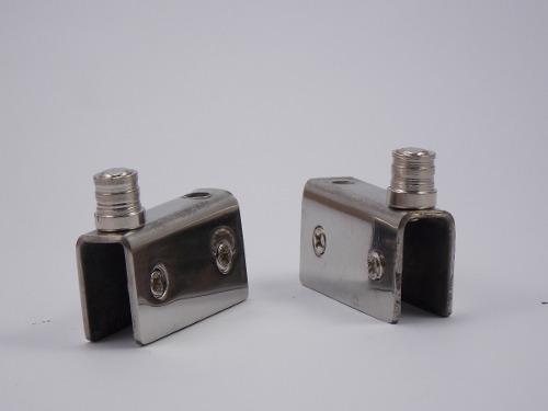 Dobradiça inox para rack com porta de vidro de 4 a 8mm