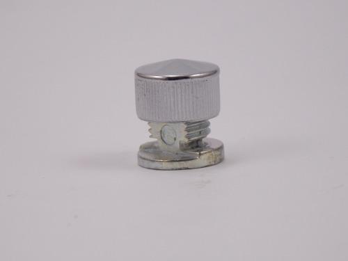Botão francês em metal cromado suporte para espelhos - 10 unidades