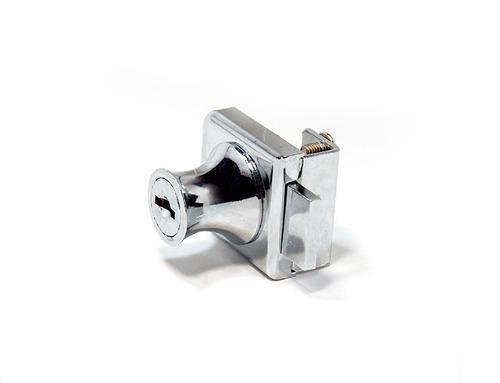 Fechadura simples para porta de vitrine ou rack