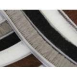 Veda fresta fita escovinha normal de vedação porta janela preta 5x7mm 10mts
