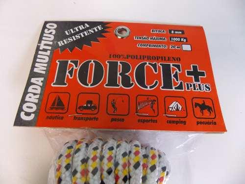 Corda de polipropileno 8mm force+plus com 20metros sortida