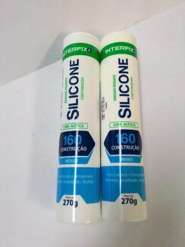 Silicone acético Interfix vedatudo com fungicida incolor